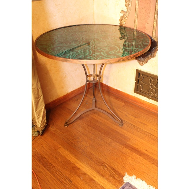 Early 20th Century 20th Century Regency Faux Painted Malachite Table For Sale - Image 5 of 7