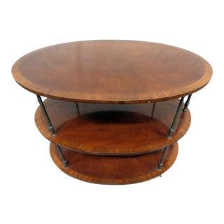 20th Century Georgian Style Inlaid Dessert Table For Sale