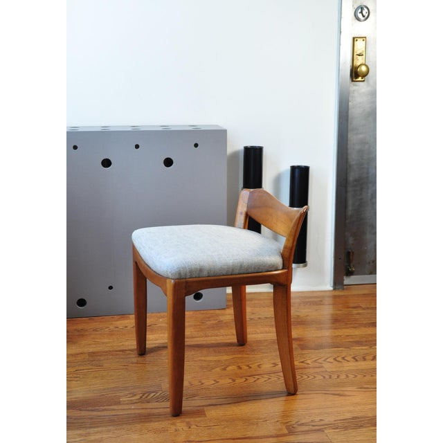 Mid-Century Modern Low Back Stool, Switzerland Circa 1940 For Sale - Image 3 of 7