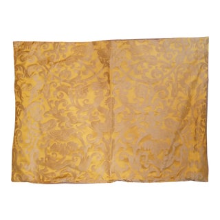 Silk Golden Fortuny Ucceli Pattern Pillow For Sale