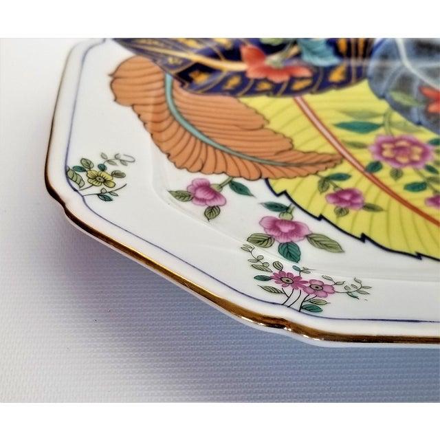 Vintage Japanese Porcelain Tobacco Leaf Tray - Signed 1977 For Sale - Image 10 of 12