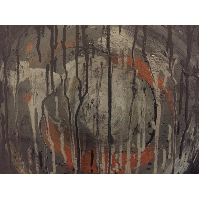 2010s Kennan Del Mar 'Black Hole on Black' Painting, Oil and Pastel on Canvas For Sale - Image 5 of 6