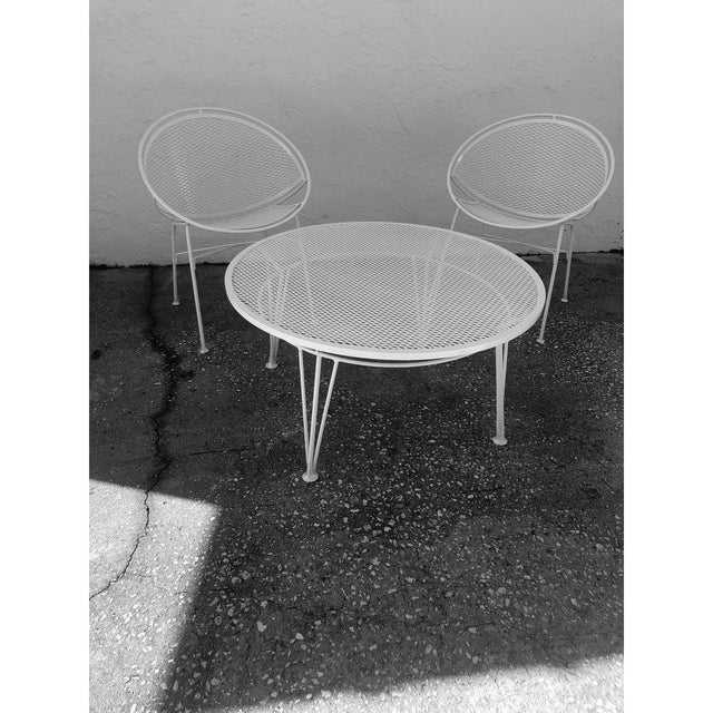 Tempestini Salterini 4 Radar Hoop Chairs and Cocktail Table - Set of 5 For Sale - Image 9 of 13
