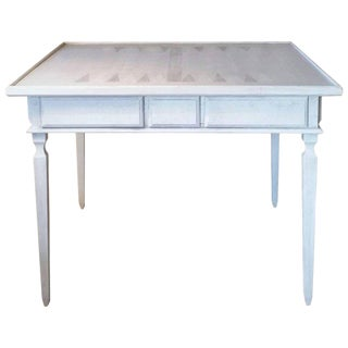 Niermann Weeks Game Table with Danish Pearl Hand-Painted Finish