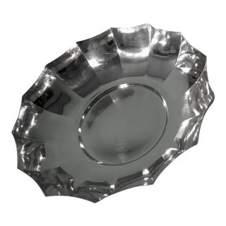 Tiffany & Co Modern Sterling Silver Fluted Bowl