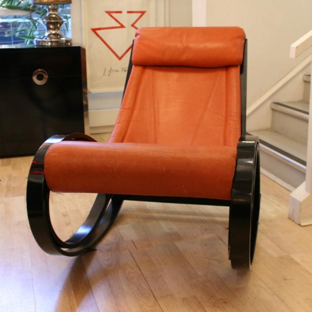 Gae Aulenti Sgarsul Rocking Chair For Sale - Image 4 of 5