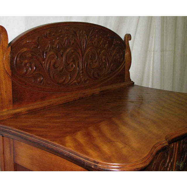 French Carved Flamed Finish Maple Dresser For Sale - Image 3 of 10