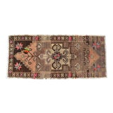 "Image of Hand Knotted Door Mat, Entryway Rug, Bath Mat, Kitchen Decor, Small Rug, Turkish Rug - 19"" X 42"" For Sale"