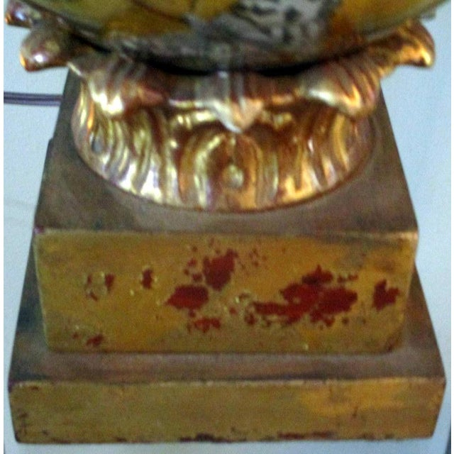 Vintage Italian Reverse Painted Table Lamp With Oriental Scenes For Sale - Image 9 of 13