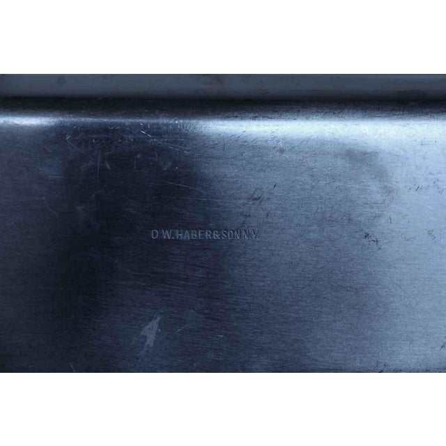 Salvaged Waldorf Stainless Steel Tong Rest or Serving Dish For Sale - Image 4 of 5