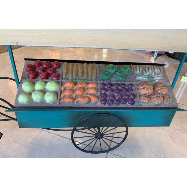 Artisan House Curtis Jere Fruit and Vegetable Cart Metal Sculpture For Sale - Image 4 of 9