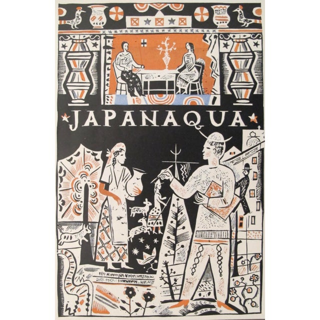 1927 German Art Deco Mini Poster, Japanaqua For Sale - Image 5 of 5
