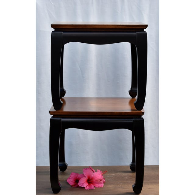 Asian Rosewood Side Tables - A Pair For Sale - Image 3 of 3
