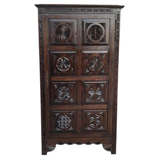 18th Century Kitchen Cabinet With One Door, Oak, Castalan Influence, Spain For Sale