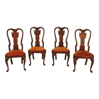 Walnut Queen Anne Dining Chairs - Set of 4