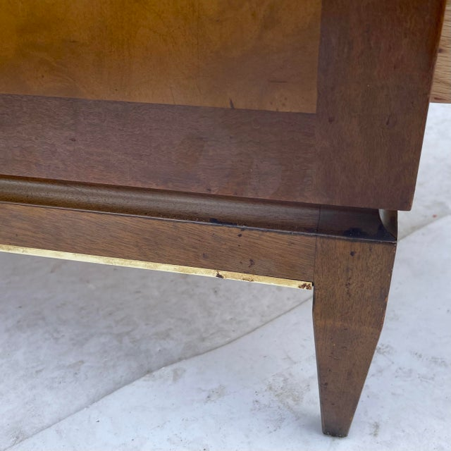 Wood Mid-Century Two Drawer End Table or Nightstand For Sale - Image 7 of 13