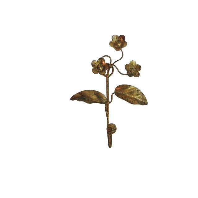 Vintage Gilded Italian Floral Coat Hook - Image 1 of 2