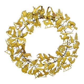 Vintage Petites Choses Dresden Holiday Christmas Wreath For Sale