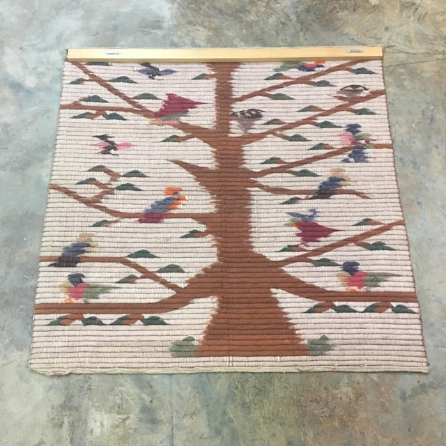 Vintage Tree of Life Wool Wall Hanging - Image 7 of 7