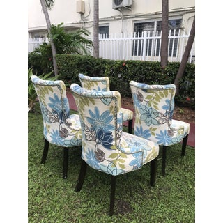Vintage Floral Print Dining Chairs - Set of 4 Preview