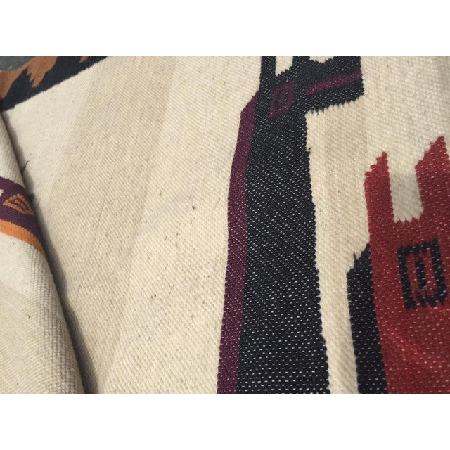 Vintage Peruvian Textile Wall Hanging Alpaca Parade - Image 4 of 11