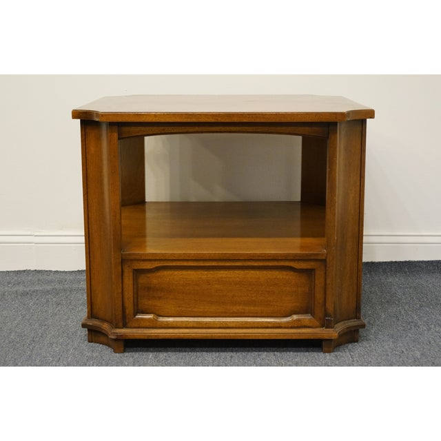 """Drexel Heritage Triune Collection Mahogany 27"""" Square Accent End Table For Sale - Image 10 of 13"""