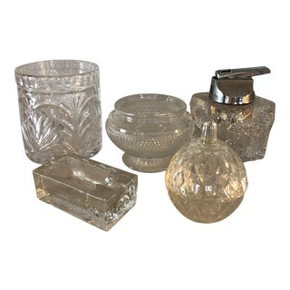 Collection of Blenko Glass and Crystal Vases, Ashtray & Lighter - Set of 4 For Sale