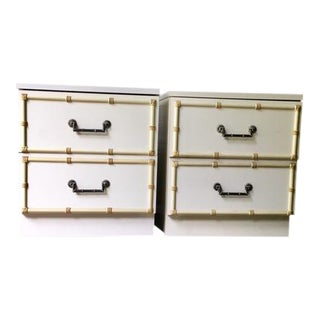Vintage Faux Bamboo Nightstands - a Pair