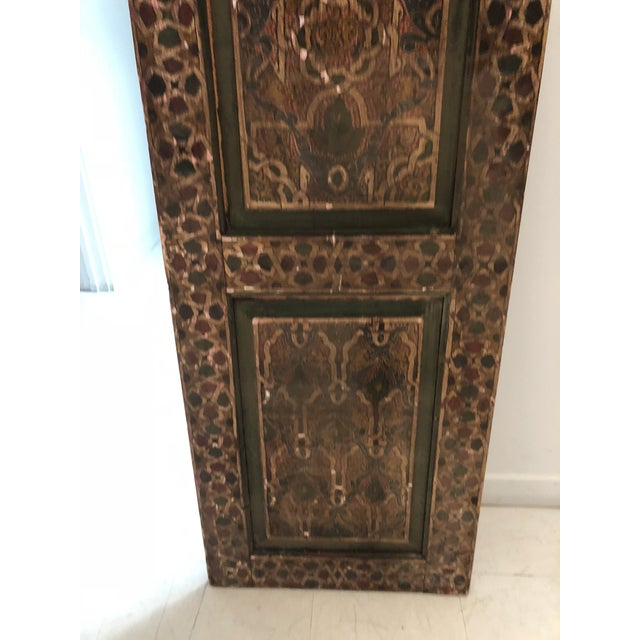 1990s Moroccan Geometric Pattern Single Panel For Sale - Image 5 of 11