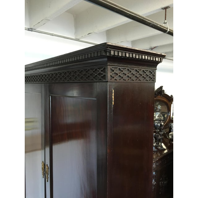 Early 19th Century Early 19th C. English Mahogany Bureau Bookcase For Sale - Image 5 of 9