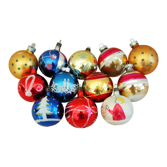 1960s Christmas Ornaments with Box - Set of 12 - Image 1 of 9