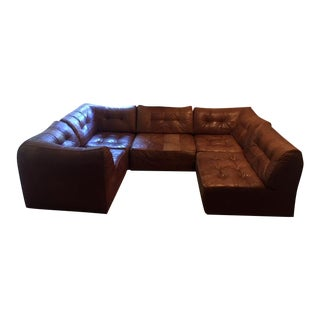 De Sede Modular Leather Patchwork Sectional For Sale