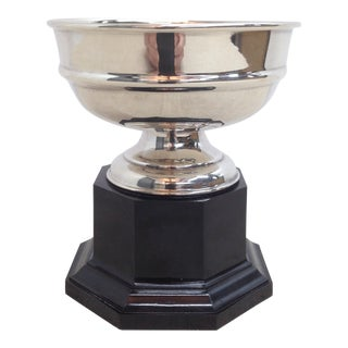 English Silver Plate Trophy on Base For Sale