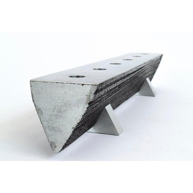 Solid Aluminum Brutalist Candelabras For Sale - Image 4 of 7