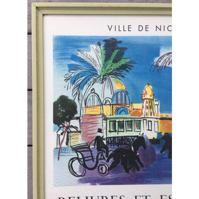 1950s Vintage 1950s French Exhibition Poster by Raoul Dufy For Sale - Image 5 of 10