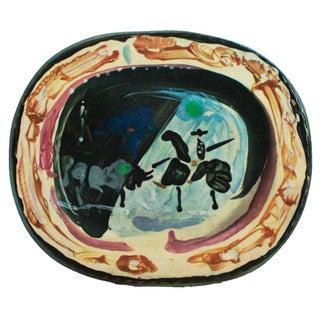 1955 Pablo Picasso, Picador and a Bull Ceramics Plate, Original Period Swiss Lithograph For Sale