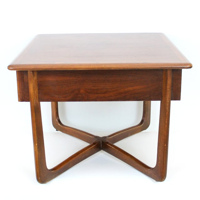 Mid-Century Lane Perception X-Base End Table - Image 2 of 10
