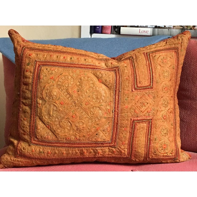Vintage Thai Applique Pillow For Sale - Image 4 of 5
