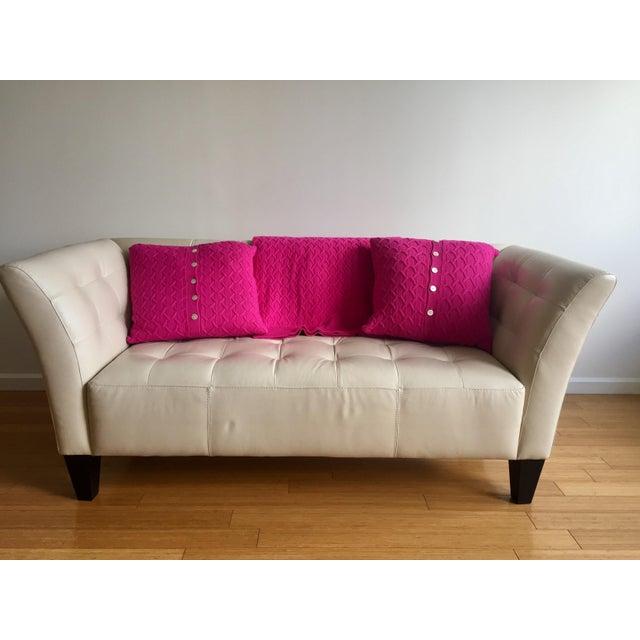Modern White Leather Sofa - Image 3 of 7