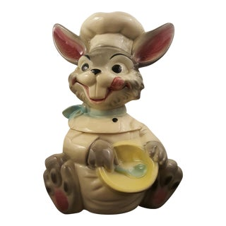 Rare Brush Pottery Happy Bunny Cookie Jar For Sale