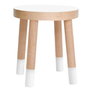 Poco Kids Chair in Maple With White Finish For Sale