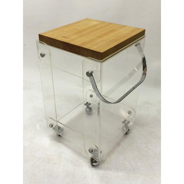 Plexiglass Bar Cart Workstation - Image 3 of 6