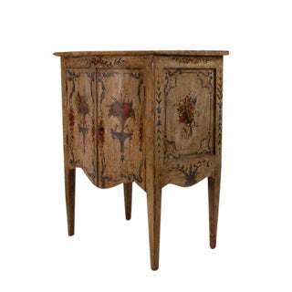 Circa 1800 Painted Italian Pale Celadon Neoclassical Cabinet