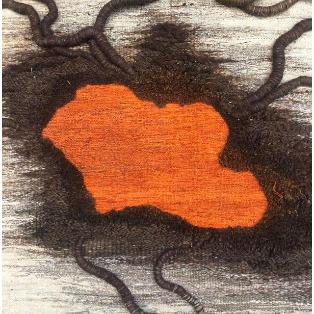 """Contemporary tapestry by Anne de Blander, """"Timanfaya"""" Manufactured by Atelier Arachné Material: Wool Dimensions: 130 x 280..."""