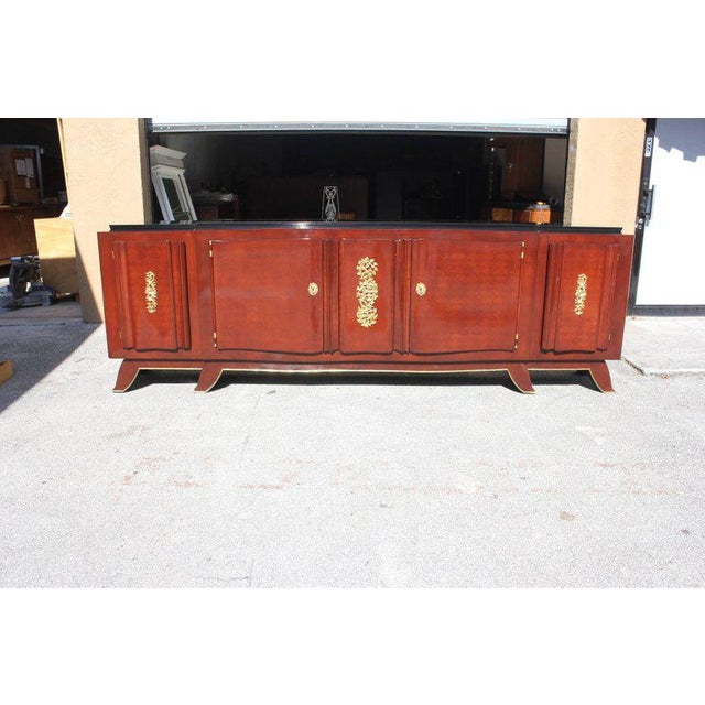 1930s 1930s French Art Deco Jules Leleu Rosewood Sideboard For Sale - Image 5 of 11