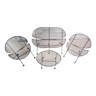 Midcentury Salterini Clamshell Patio Set For Sale