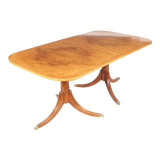 1960s Maple Duncan Phyfe Dining Room Table For Sale