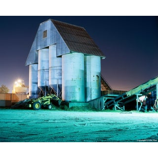 "Contemporary Night Photograph ""Silos"" by John Vias For Sale"