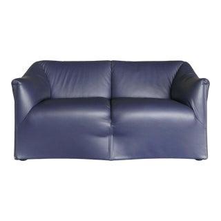 """1970s Vintage Mario Bellini for Cassina """"Tentazione"""" Italian Leather Sofa For Sale"""