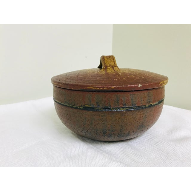 Boho Chic 1970s Vintage Artisan Hand-Crafted Glazed Pottery Bowl For Sale - Image 3 of 10